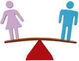 Man woman equality sex gender balance poster
