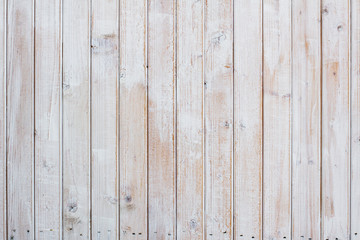 Vintage white wood planks background