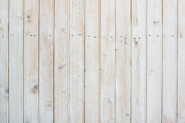 White wooden planks wall background