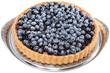 Blueberry Tart on white