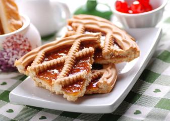 fette di crostata di albicocca