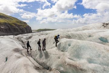 Climbing on a glacier, Svínafellsjökull, Vatnajökull, Iceland