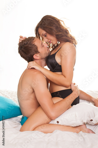 Sexy couple in intimacy relations