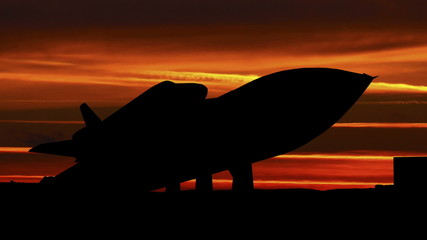 Alabama Space and Rocket Center Shuttle sunset stripes