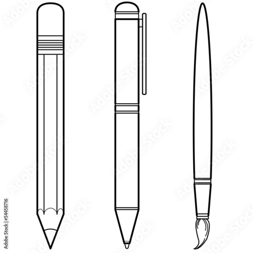 stationery writing materials vector