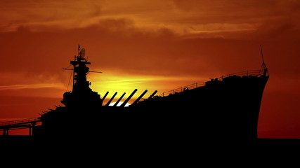 Alabama USS Alabama sunrise