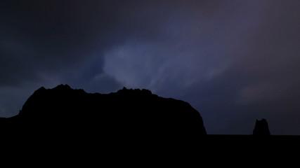 Alaska Kayak Island night storm