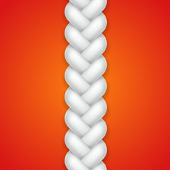 White seamless braid pattern