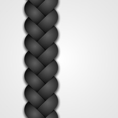 black seamless braid