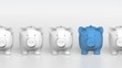 Piggy bank - orthographic raw with blue pig