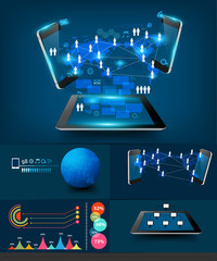 Vector modern infographics business technology communication