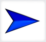 Blue short arrow