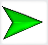 Green short arrow