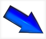 Blue arrow. Plastic