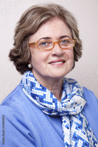 Senior Smiling Woman Portrait