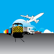 world wide cargo transport concept vector