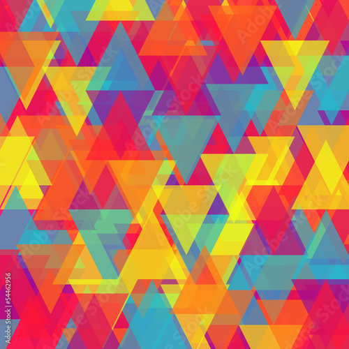 Tuinposter ZigZag Vector of abstract triangle background