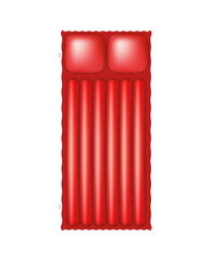Air mattress in red design