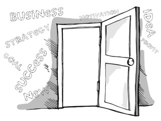 Business door