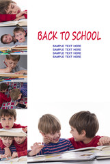 Back to School - empty space for your ad