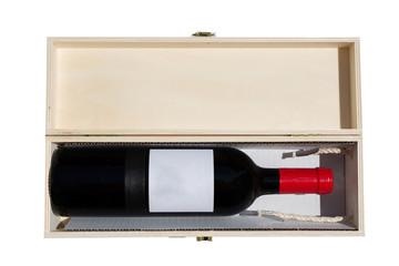 bottiglia di vino con custodia