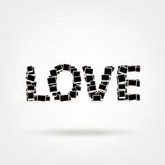 Love, word made from photo frames, insert your photos