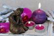 Buddha mit Kerzen