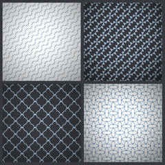 Elegant masculine seamless patterns. Vector backgrounds.
