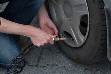 Tyre pumping