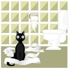 Naughty cat