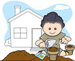 Planting - Kids - Vector Illustration