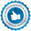 Button Siegel Top Qualität daumen Hand gefällt blau