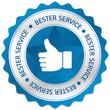 Button Siegel Bester Service daumen Hand gefällt blau