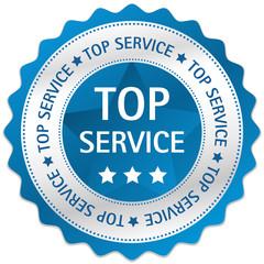 Button Siegel Top Service blau
