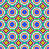 Multicolored circles seamless abstract pattern.