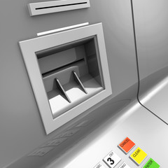 Close Up of ATM Machine