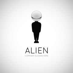 Vector logo alien