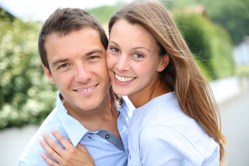 Portrait of cheerful and lovely couple