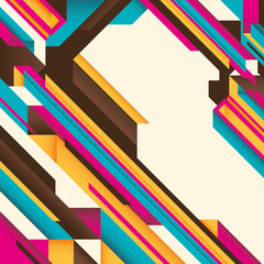 Illustration with geometric abstraction.