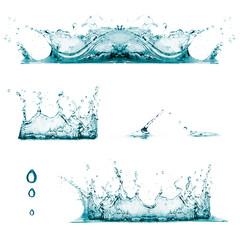 Splashes. Drops