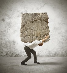 Stress of a businessman
