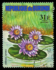 REPUBLIC OF BURUNDI - CIRCA 1974: A stamp printed in Republic of