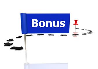 Push pin to bonus