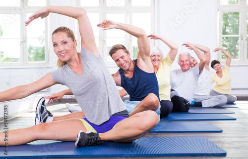 canvas print picture gymnastik