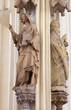 Vienna -  Statue of  saints from gothic church Maria am Gestade
