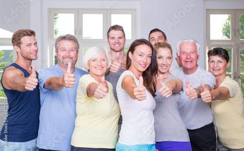 Leinwanddruck Bild positive sportgruppe