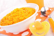 baby food, carrot puree