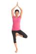 Asian pregnant woman meditation