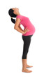 Asian pregnant woman stretching