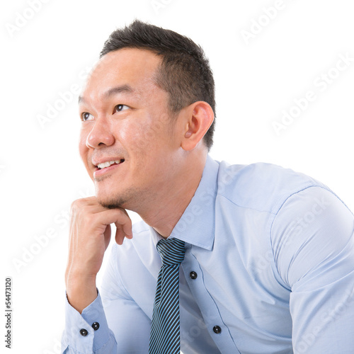 Asian Man thinking